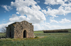 Ruins of a small Christian church Royalty Free Stock Photography