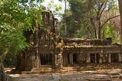 The ruins of a small temple in the temple complex of Angkor Wat, Cambodia Stock Photography