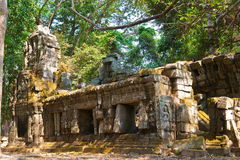 The ruins of a small temple in the temple complex of Angkor Wat, Siem Reap, Cambodia Stock Image