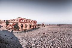 Ghost town - Rameshwaram, India. Ruins of the small village Dhanushkodi Royalty Free Stock Images