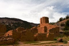 Ruins of spanish mission. In New Mexico Royalty Free Stock Images