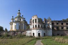 Ruins of Spaso-Sumorin Monastery and Cathedral Ascension of the Lord in the town of Totma Royalty Free Stock Image