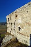 Spis Castle Spišský hrad exterior view 3. The ruins of Spiš Castle in eastern Slovakia form one of the largest castle sites in Central Europe. The royalty free stock image