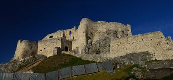 Spis Castle Spišský hrad Exterior view 8. The ruins of Spiš Castle in eastern Slovakia form one of the largest castle sites in Central Europe. The royalty free stock images