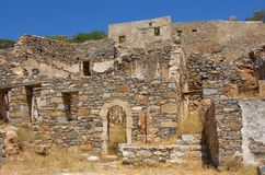 Ruins of Spinalonga Royalty Free Stock Photo
