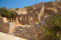 Ruins on Spinalonga Stock Images