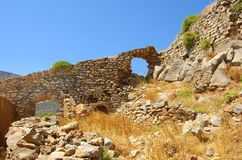 Ruins of Spinalonga 3 Royalty Free Stock Images