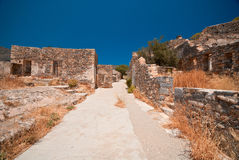 Ruins in Spinalonga. Somewhere in Spinalonga, Creete. The island has been used as a leper colony Royalty Free Stock Photo