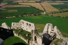 Ruins of Spis castle Stock Image