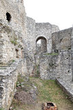 The ruins of Spis Castle, Slovakia. The ruins of Spis Castle - Slovakia royalty free stock image
