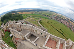 The ruins of Spis Castle, Slovakia. The ruins of Spis Castle - Slovakia stock images