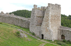 The ruins of Spis Castle, Slovakia. The ruins of Spis Castle - Slovakia stock photography