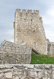 The ruins of Spis Castle, Slovakia. The ruins of Spis Castle - Slovakia royalty free stock photo