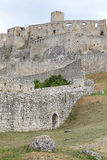 The ruins of Spis Castle, Slovakia. The ruins of Spis Castle - Slovakia royalty free stock photography