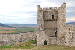The ruins of Spis Castle, Slovakia. The ruins of Spis Castle - Slovakia royalty free stock images