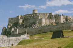 The ruins of Spis castle, Slovakia stock images