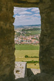 The ruins of Spis castle, Slovakia. Spis castle, Slovakia - one of the largest castle sites in Central Europe was included in the UNESCO list of World Heritage royalty free stock images