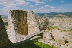 The ruins of Spis castle, Slovakia stock photography