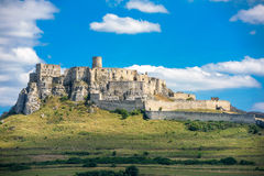 The ruins of Spis castle, Slovakia. Spis castle, Slovakia - one of the largest castle sites in Central Europe was included in the UNESCO list of World Heritage royalty free stock photo