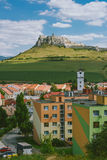 The ruins of Spis castle, Slovakia. Spis castle, Slovakia - one of the largest castle sites in Central Europe was included in the UNESCO list of World Heritage royalty free stock image