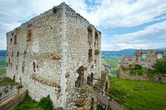 The ruins of Spis Castle (or Spissky hrad). Slovakia. The ruins of Spis Castle in eastern Slovakia. Summer view. Built in the 12th century stock images