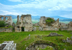 The ruins of Spis Castle (or Spissky hrad). Slovakia. The ruins of Spis Castle or Spissky hrad in eastern Slovakia. Summer view. Built in the 12th century royalty free stock image