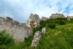 The ruins of Spis Castle (or Spissky hrad). Slovakia. The ruins of Spis Castle (or Spissky hrad) in eastern Slovakia. Summer view. Built in the 12th century stock photos