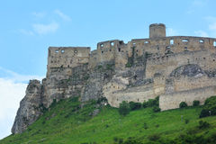 The ruins of Spis Castle (or (Spissky hrad). Slovakia. The ruins of Spis Castle or Spissky hrad in eastern Slovakia. Summer view. Built in the 12th century stock photos