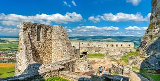 Spis Castle, a UNESCO world heritage site in Slovakia. Ruins of Spis Castle, a UNESCO World Heritage Site in Slovakia, Central Europe royalty free stock photography