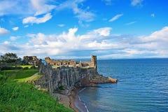 Ruins of St Andrews Castle. Fife, Scotland, United Kingdom stock image