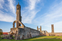 Ruins of St Andrews Cathedral. The Cathedral of St Andrew (often referred to as St Andrews Cathedral) is a ruined Roman Catholic cathedral in St Andrews, Fife Royalty Free Stock Photos