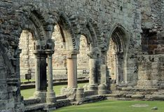 Ruins of St Andrews Cathedral stock photos