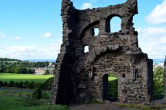 Ruins of St Anthony`s Chapel in Edinburgh Stock Photos
