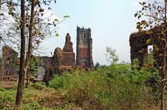Ruins of St Augustine Church Complex in Goa Royalty Free Stock Photo