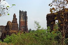 Ruins of St Augustine Church Monastery in Goa Stock Photo