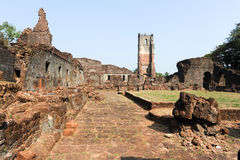 Ruins of St. Augustine convent complex at Old Goa Stock Images