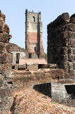 Ruins of St. Augustine convent complex at Old Goa Stock Photography