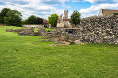 Ruins  of St Augustine's Abbey in Canterbury, Kent, UK. Canterbury, Kent, UK: Ruins of St Augustine's Abbey,  a UNESCO World Heritage Site Stock Image