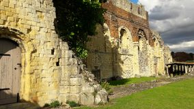 Ruins of St Augustine`s Abbey, Canterbury, UK stock images