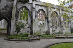 The Ruins of St. Dunstan-in-the-East. London City 2016 Stock Image