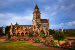 Ruins of St-Etienne-le-Vieux in Caen, Normandy, France Royalty Free Stock Images