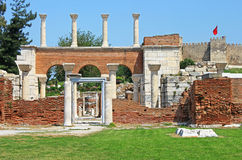 Ruins of st. Johns Basilica Royalty Free Stock Photo