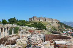 Ruins of st. Johns Basilica in Turkey. Ruins of st. Johns Basilica at Ayasuluk Hill in Selcuk, Turkey Stock Image