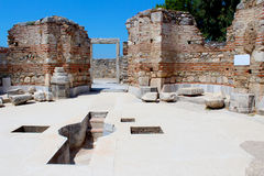 Ruins of st. Johns Basilica in Turkey Stock Photography