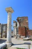 Ruins of st. Johns Basilica at Ayasuluk Hill Royalty Free Stock Images