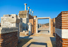 Ruins of st. Johns Basilica at Selcuk Ephesus Turkey Stock Image