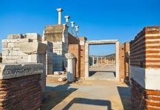 Ruins of st. Johns Basilica at Selcuk Ephesus Turkey Stock Image