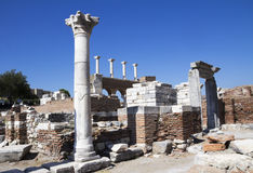 Ruins of st. Johns Basilica Royalty Free Stock Photos
