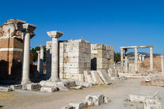 Ruins of St Johns Basilica Stock Images