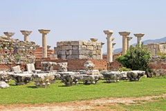 Ruins of st. Johns Basilica - Selcuk, Ephesus, Royalty Free Stock Photos